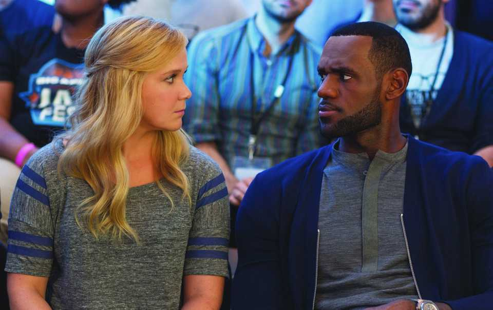 Amy Schumer and Lebron James in Trainwreck