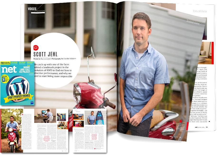 net magazine profile spread
