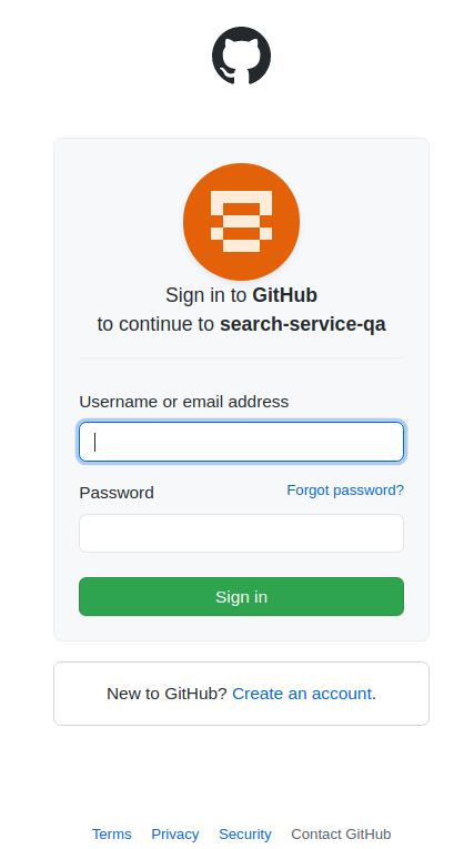 GitHub Login Form