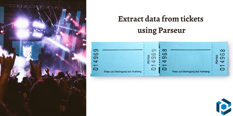 Extract specific information from tickets using Parseur