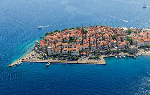 Visit historic Korcula with luxury yacht charters in Croatia