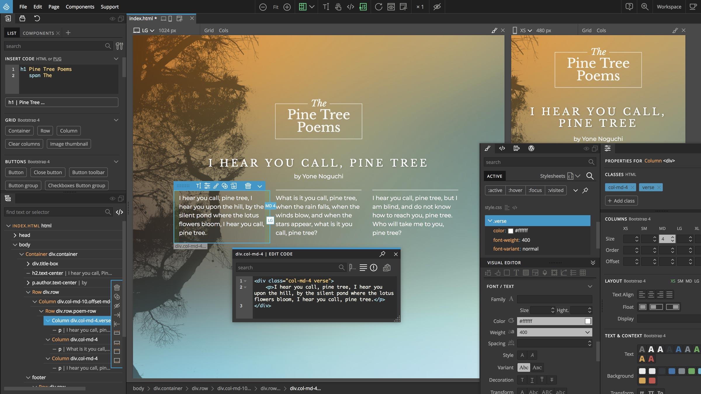 Humane Technologies Pinegrow Web Editor 5.0