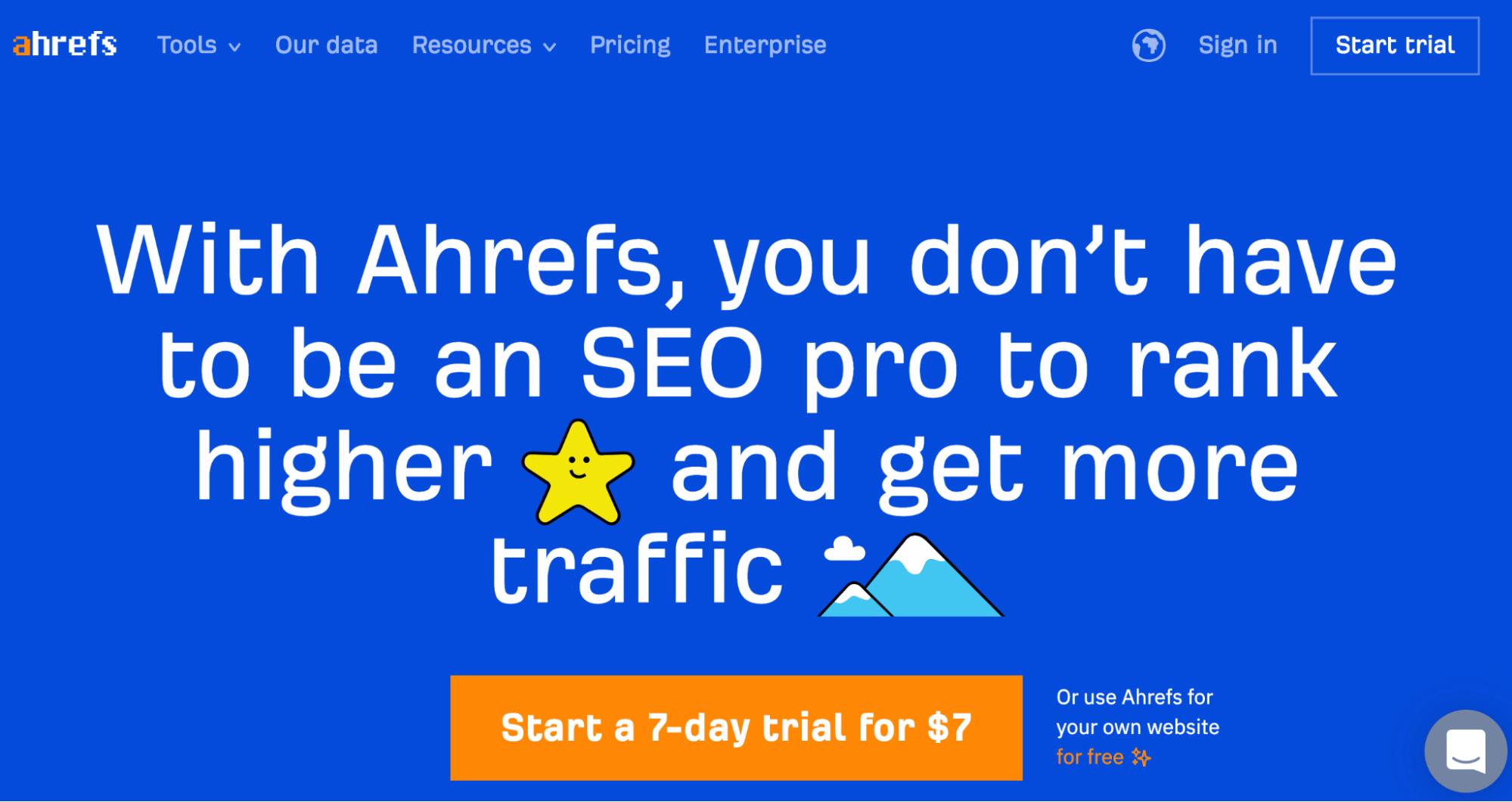 SaaS Marketing Automation Tools: Ahrefs Screenshot