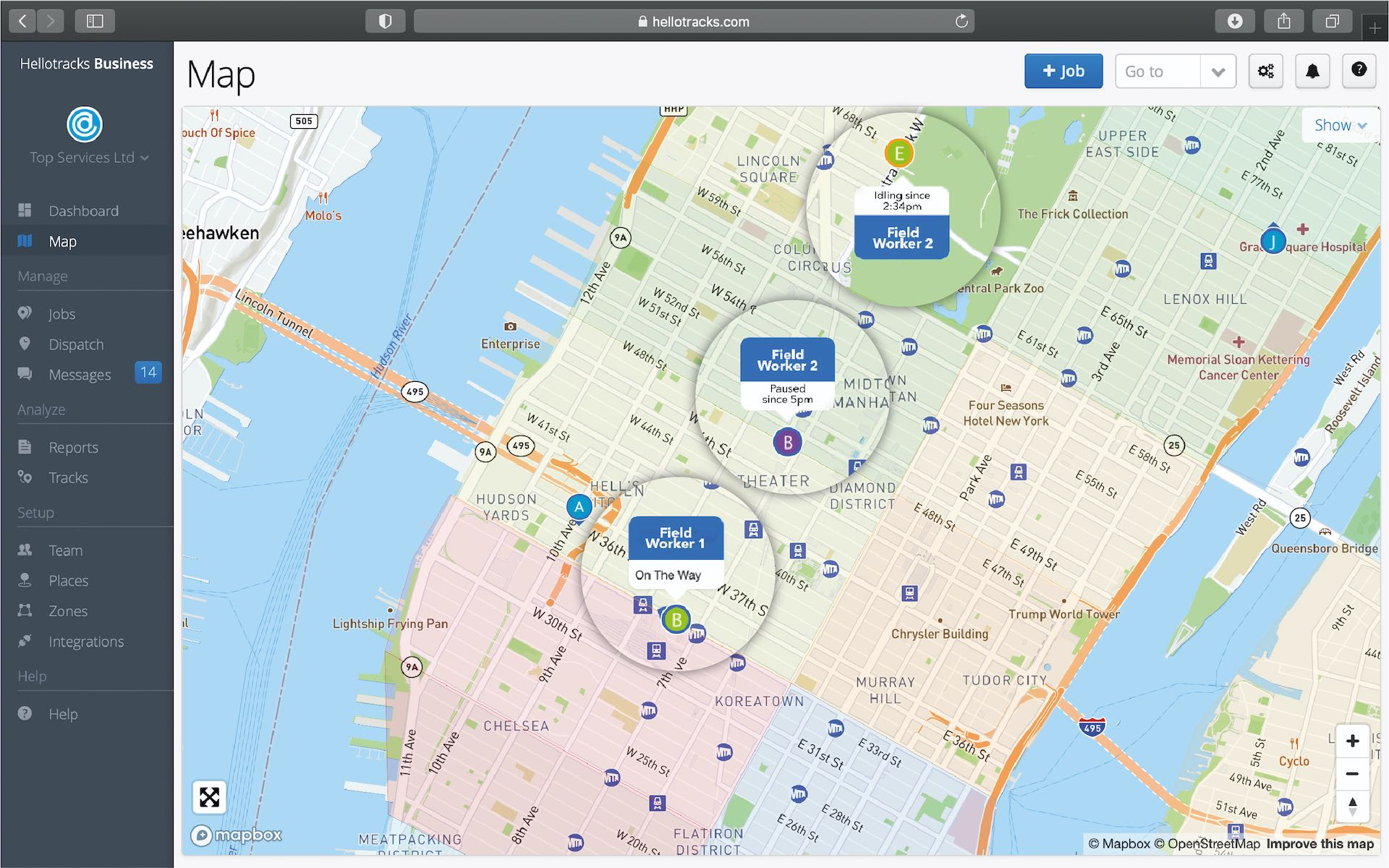 App screenshot for Hellotracks 1