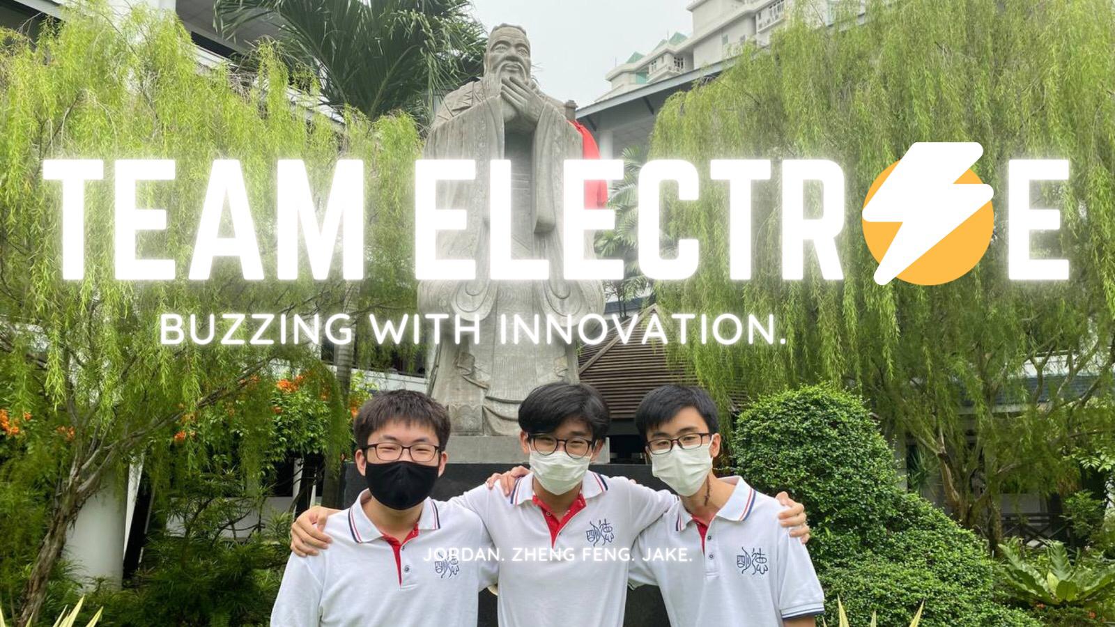 Photograph of Team Electrae members