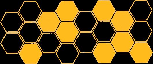 yellow honeycomb graphic
