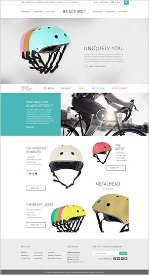 ecommerce website design templates