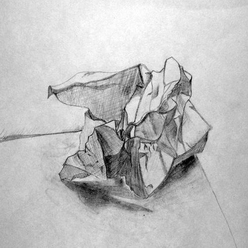Crumpled Paper Sketch