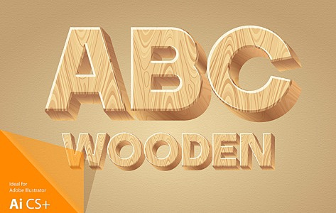 Wooden Alphabet images/1-3D-wood-typography_1.jpg