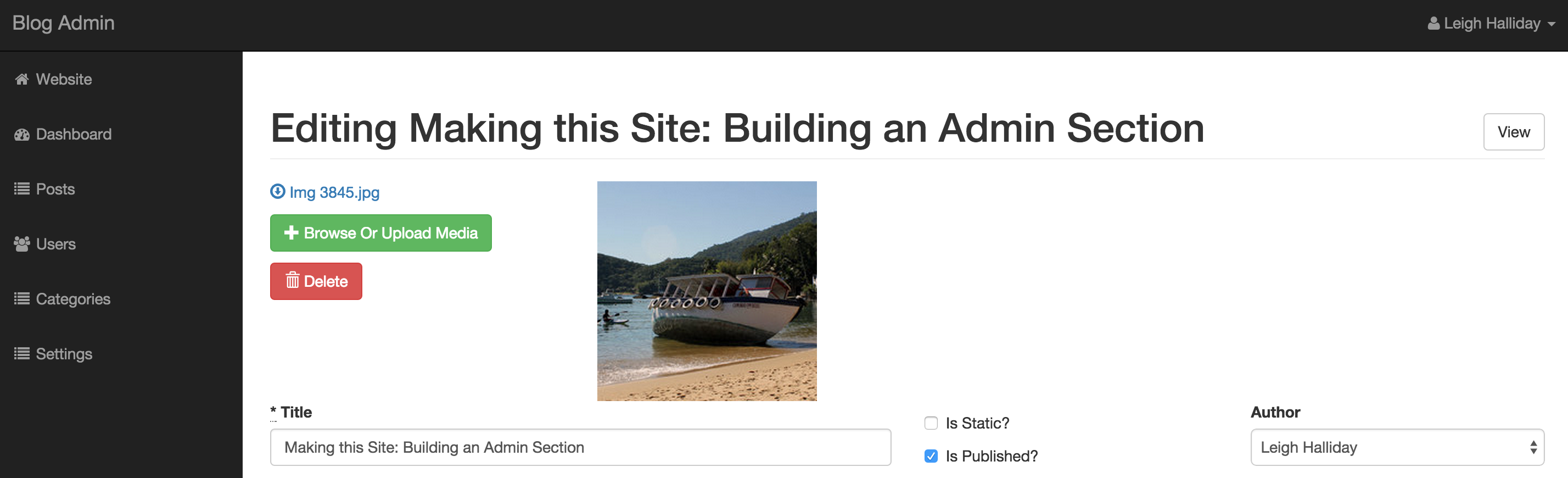 Building an admin section in Rails | Leigh Halliday