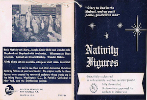 Poloron Products Nativity Set Tag & Instructions (1964) preview