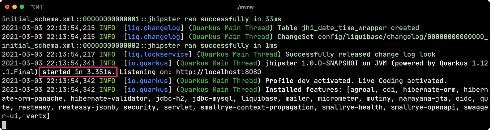 JHipster Quarkus with Keycloak