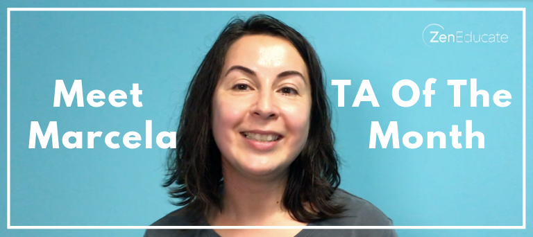 Meet our TA of the month - Marcela