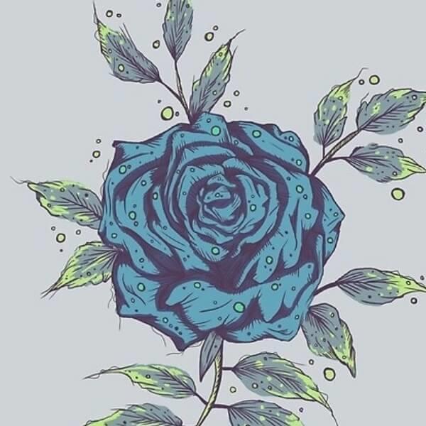 Blue Midnight Flower