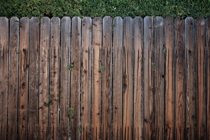 image of old wood fence