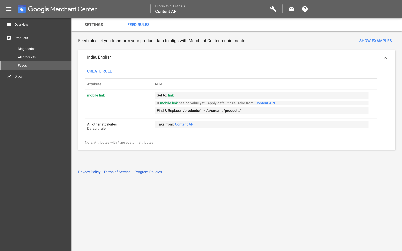 Google Merchants: Final screen