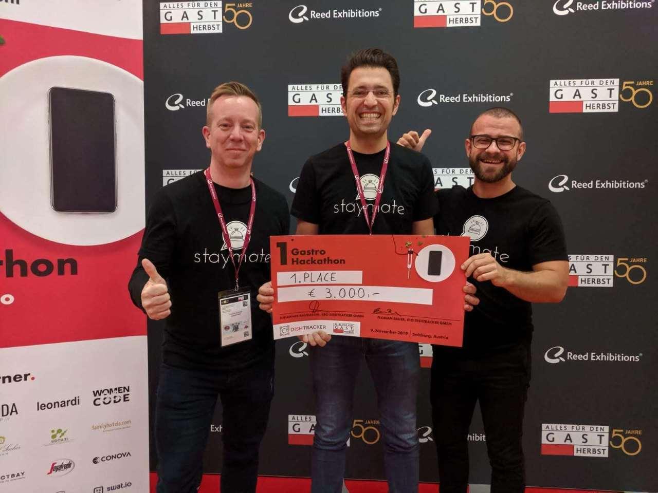 1. Platz beim Gastro Hackathon