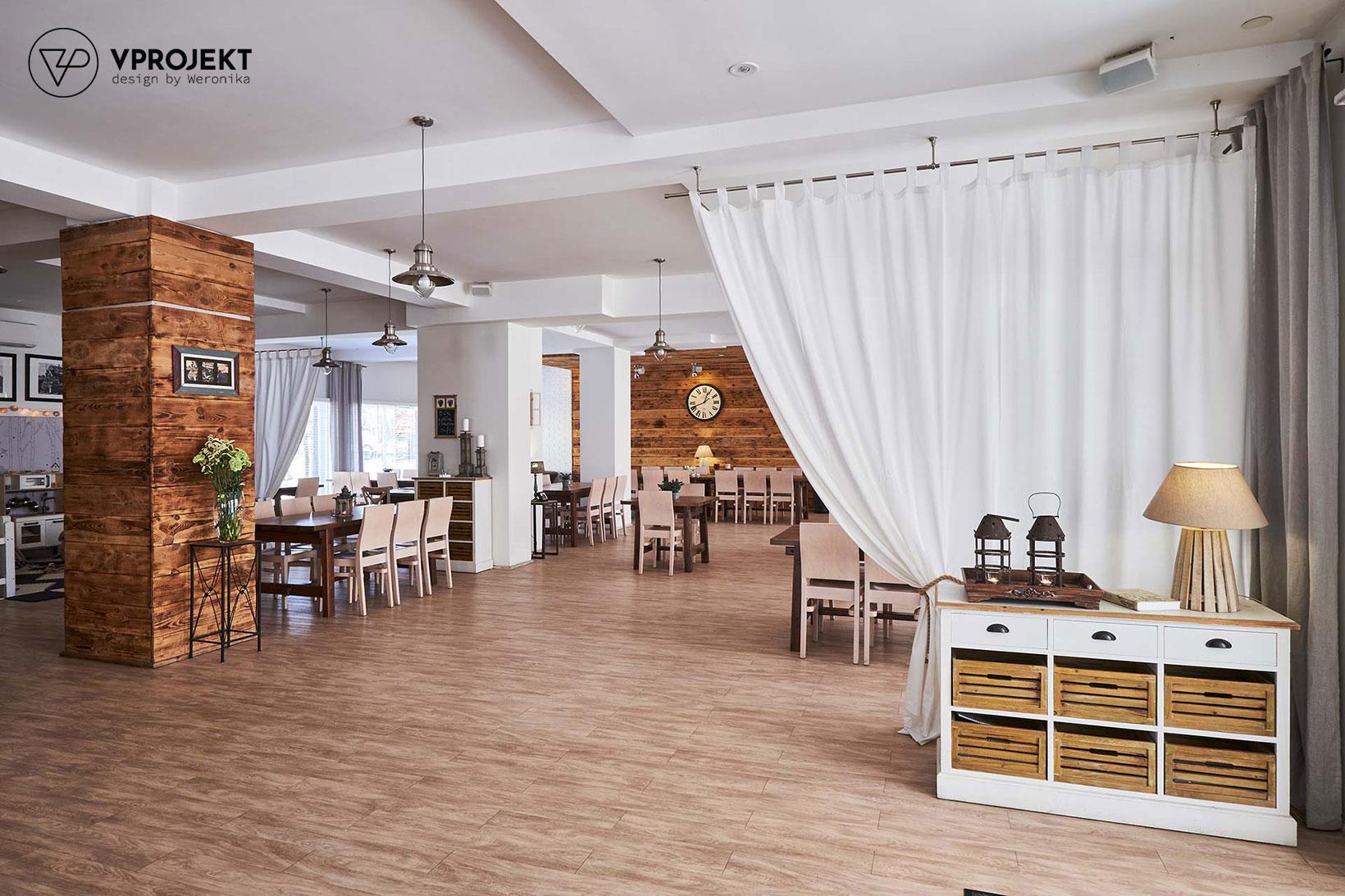 Sala restauracyjna, restauracja Porto w Giżycku