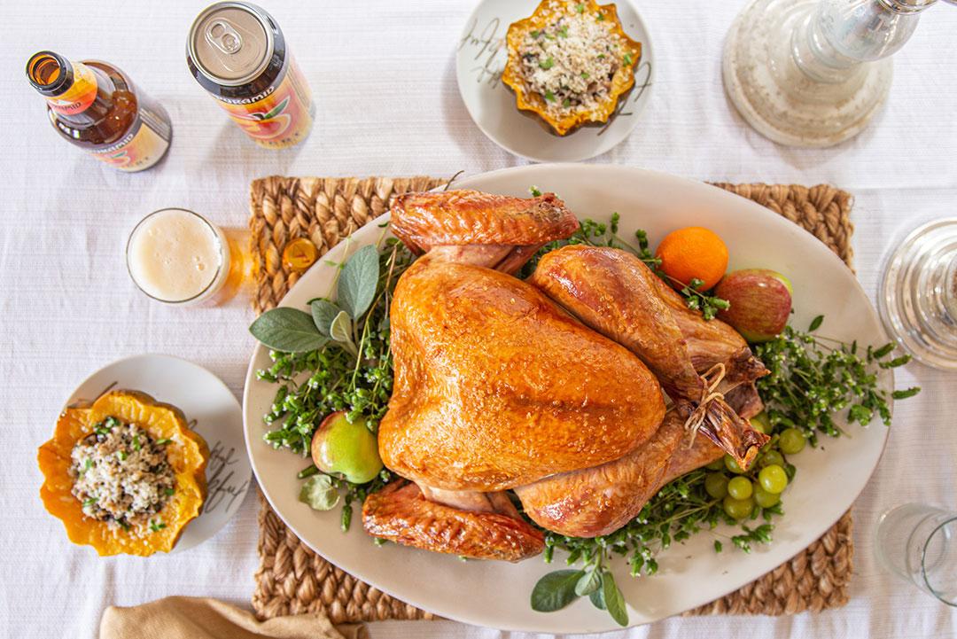 Beer brined Thanksgiving Turkey