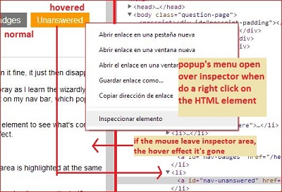 Show Hover in Chrome Dev Tools