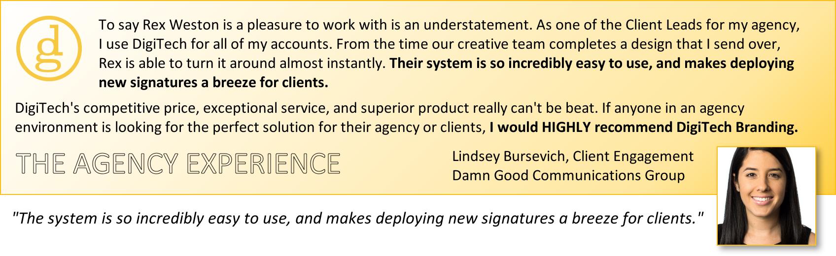 email signature testimonials