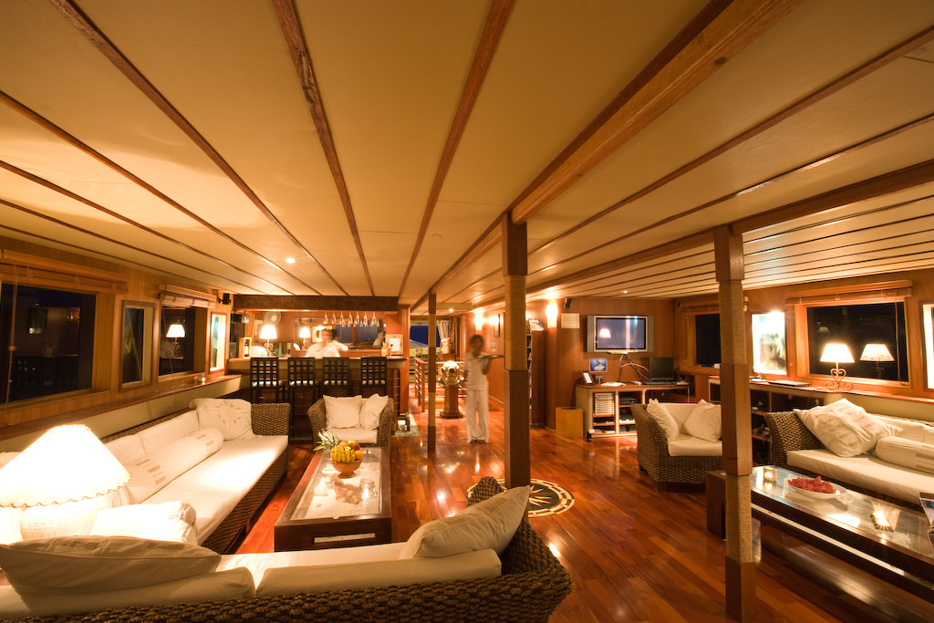 Ocean Divine Luxury Surf Yacht Charter Boat Maldives Lounge