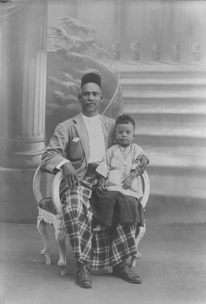 Jawi Peranakan man and child, 1910s–1930s