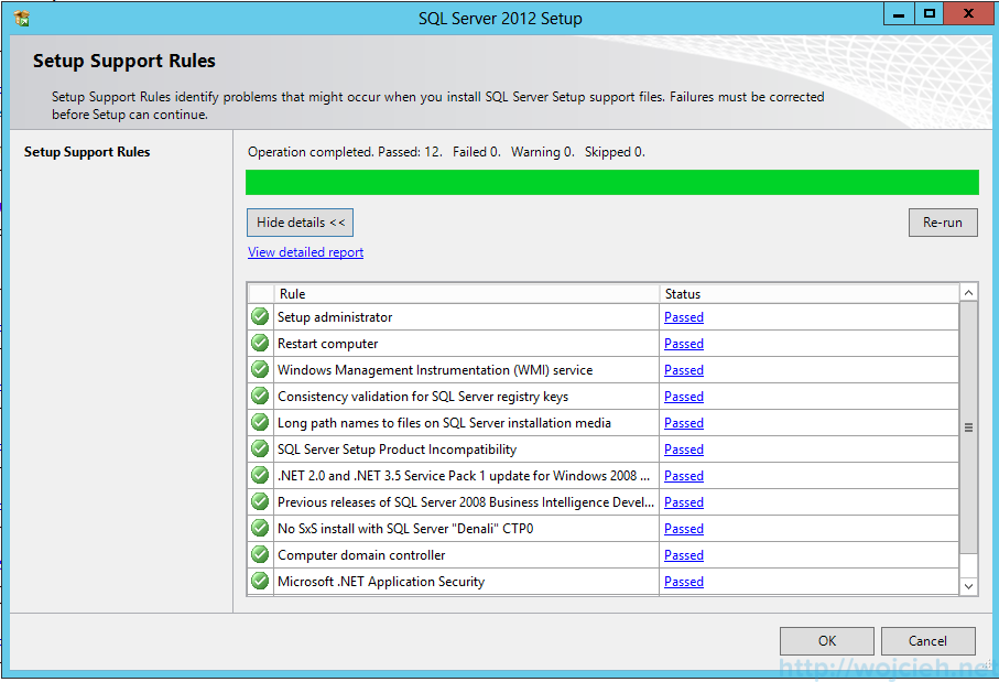 Microsoft SQL Server 2012 System Configuration Checker