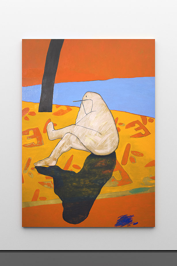 zoom: Figure in Landscape, 2019        oil on canvas        220 × 156 cm