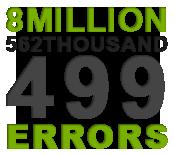 8 million errors reported