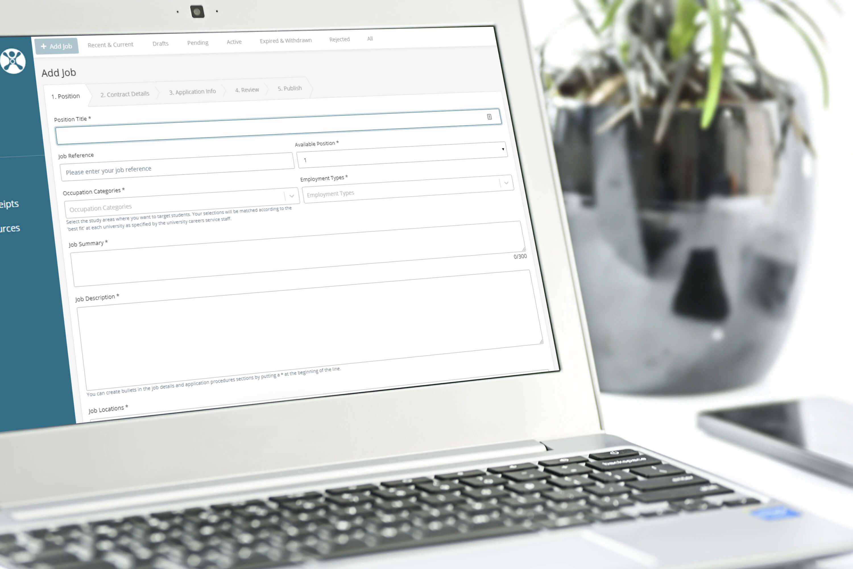 Careerhub adding job form example