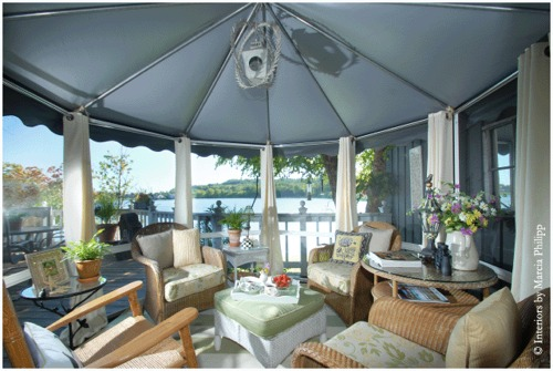 Free Standing Round Style Gazebo Screen Room Kits | Veranda ...