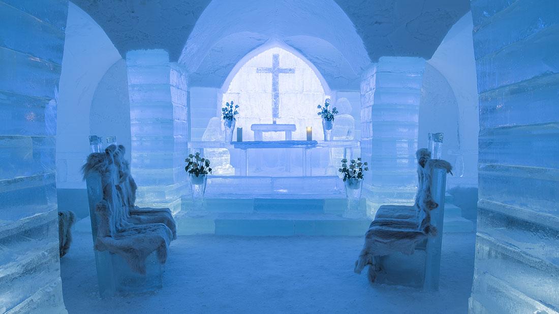 Swedish ice hotel wedding