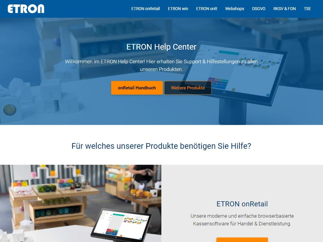 ETRON Help Center