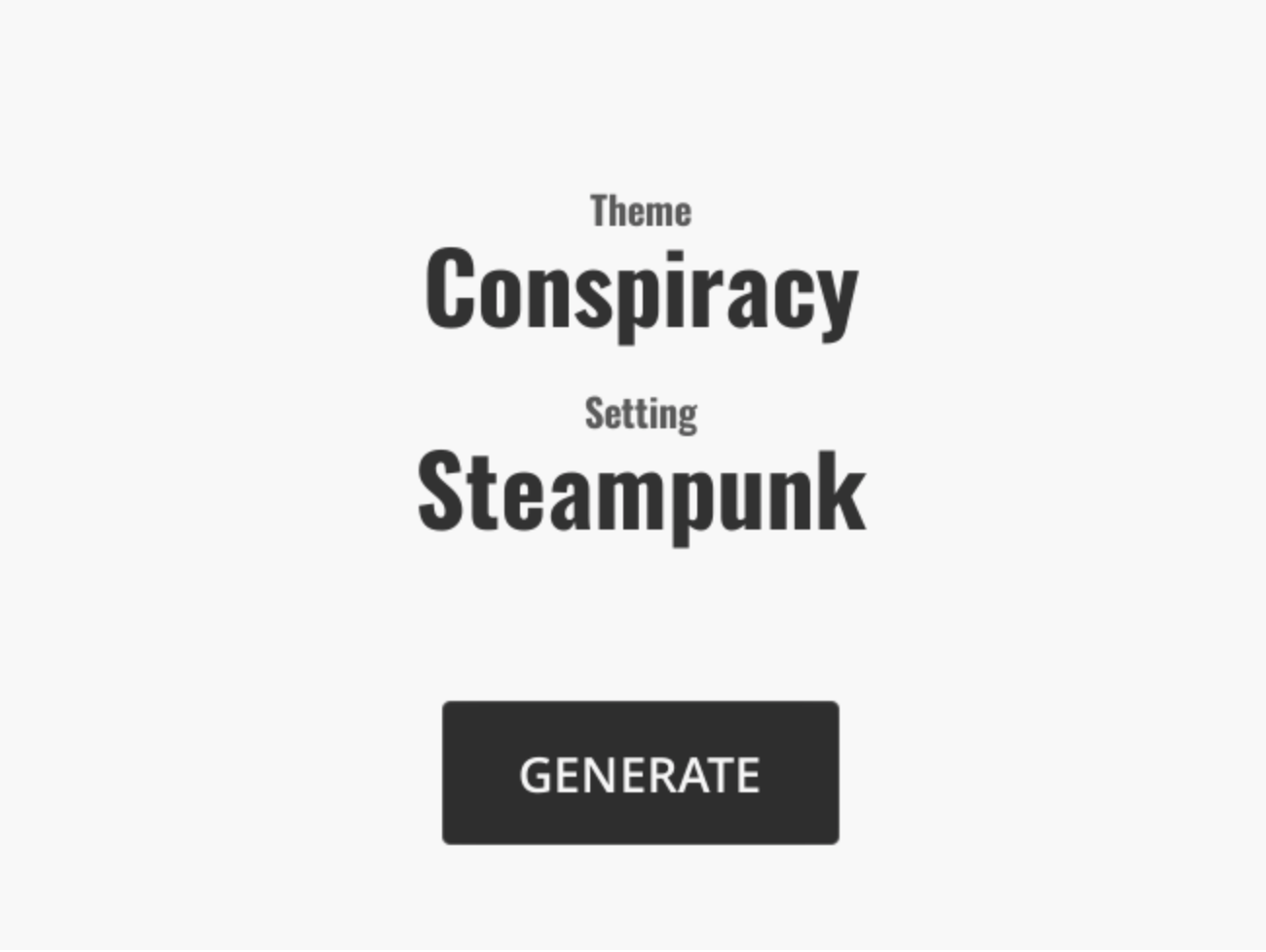 Generated Story and Theme Example