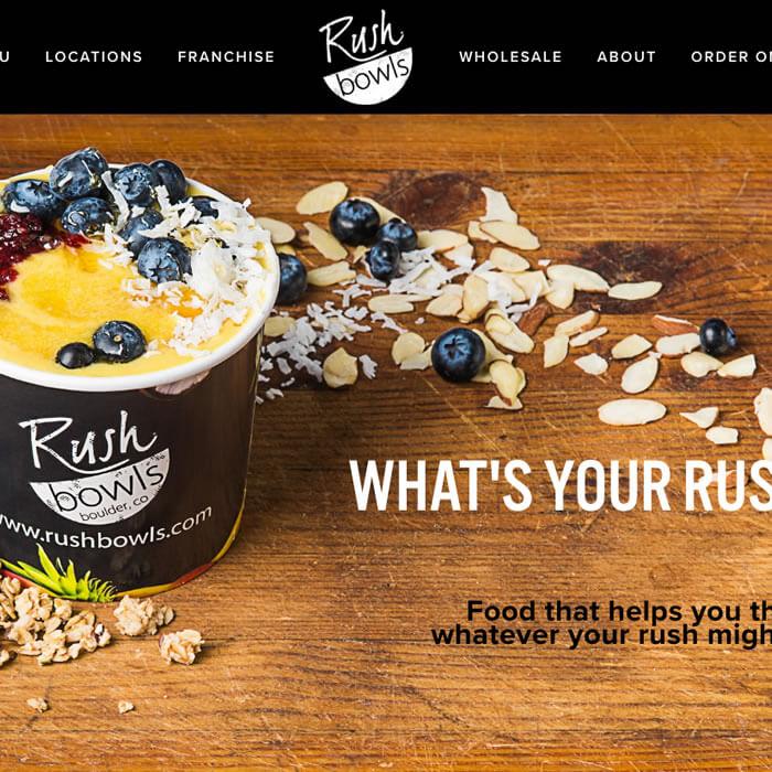 Rush Bowls website