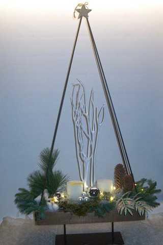 Kerststuk van 100cm hoog