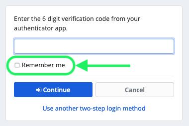 Remember me option