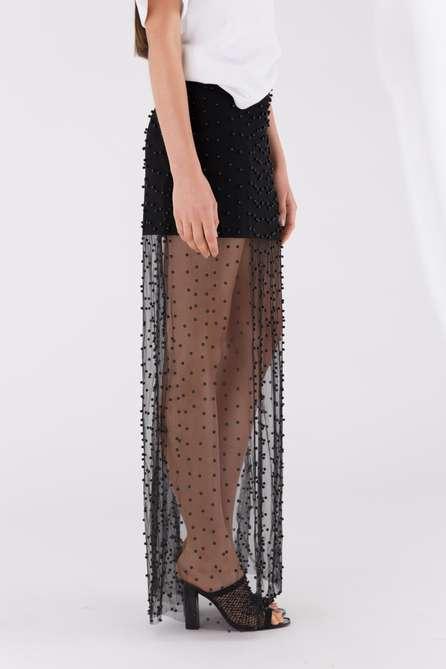Beaded Long Skirt