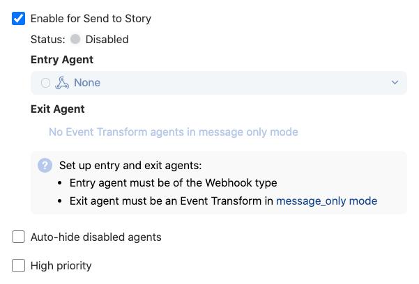Configure send to story