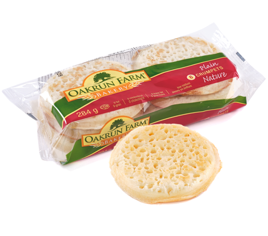 crumpets with packaging