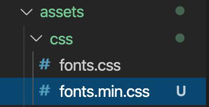 圧縮されたCSSファイル