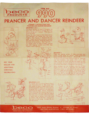 Beco Products Prancer and Dancer Reindeer #990 Instruction Manual.pdf preview