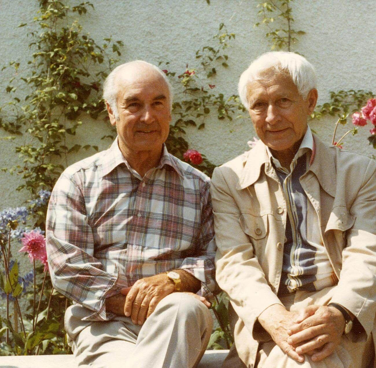 Швейцарский химик Альберт Хофманн иЭрнст Юнгер несколько раз вместе принимали ЛСД. Источник: barbadillo.it