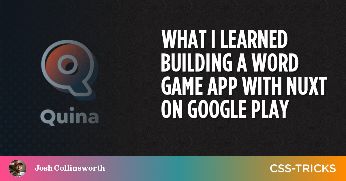 Preview image for What I Learned Building a Word Game App With Nuxt on Google Play