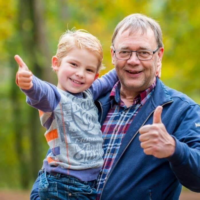 Met kleinzoon Joël
