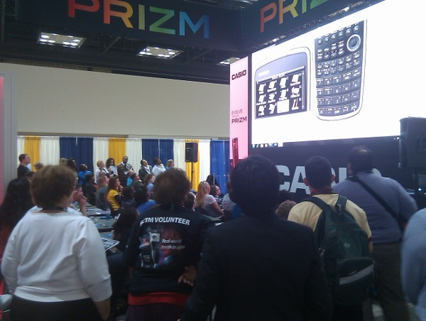 Casio booth packed
