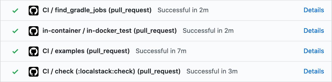 Localstack module CI timings