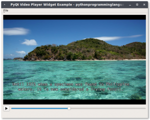 pyqt video player
