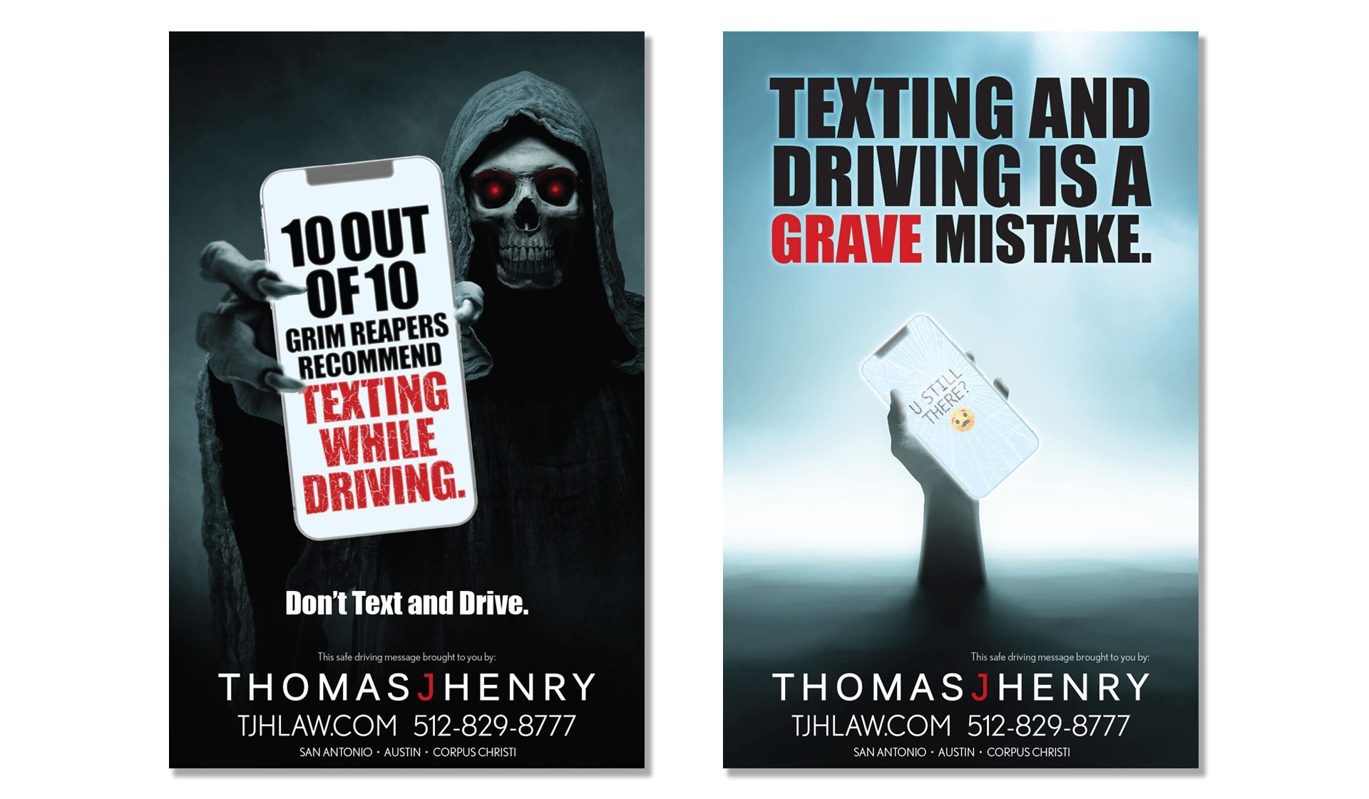 TJH Safe Driving Print Ads